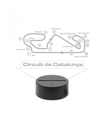 Circuit De Catalunya LED Lamp